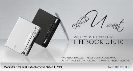 Fujitsu LifeBook U1010 UMPC Notebook Specifications